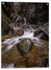 Waterfall at Gordale Scar, Malham, Acrylic Print