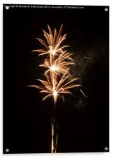 Firework Threesome, Acrylic Print
