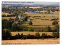 Dorchester-on-Thames from Wittenham Clumps, Acrylic Print