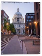 St Pauls Cathedral from Millenium Bridge, Acrylic Print