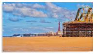 Blackpool Piers , Acrylic Print