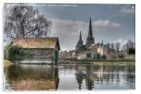 Lichfield Cathedral, Acrylic Print