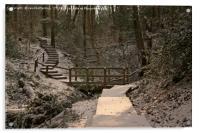 Snowy Ironbridge Gorge, Acrylic Print