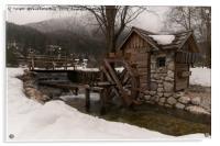 Winter Water Mill At Lake Jasna, Acrylic Print