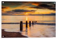 Beach Golden Sunrise, Acrylic Print