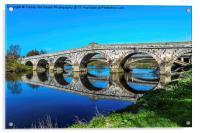 River Severn Bridge At Atcham, Acrylic Print