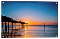 Teignmouth Pier Sunrise, Acrylic Print