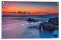 Lands End Sunset, Acrylic Print