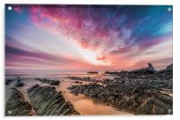 Hartland Quay Sunset, Acrylic Print