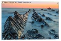 Hartland Quay Sunset., Acrylic Print