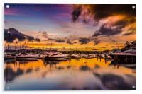 Torquay Marina Sunset., Acrylic Print