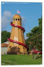 Helter skelter fair ground ride, Acrylic Print