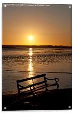 Sunrise seat, Acrylic Print