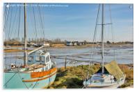 Between the masts, Acrylic Print