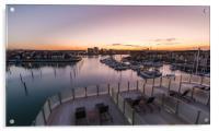 Sunrise over Southampton, Acrylic Print