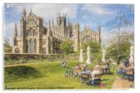 Ely Cathedral from the East, Acrylic Print