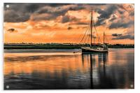 Surreal Sunset over the backwaters, Acrylic Print
