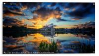 Fast Moving Celebration Sunset, Acrylic Print