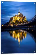 Le Mont Saint-Michel at dusk, Acrylic Print