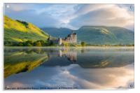 Dawn at Kilchurn castle, Loch Awe, Scotland, UK, Acrylic Print