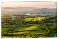 The rolling Herefordshire hills, Acrylic Print