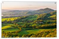 Worcestershire beacon and the rolling hills at the, Acrylic Print