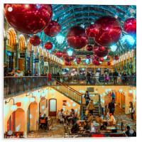 Christmas at Covent Garden, Acrylic Print