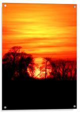Burning Sunset, Acrylic Print