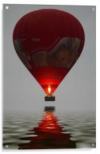 Red Balloon reflection, Acrylic Print