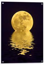 Melting Golden Moon, Acrylic Print