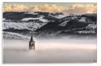 Montorsello fog, Acrylic Print