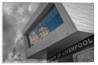 Port of Liverpool building reflection, Acrylic Print
