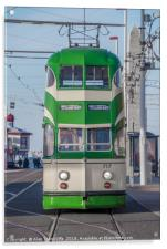 Blackpool tram, Acrylic Print