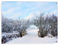 Archway snowed in field, Acrylic Print
