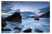 Cornwall Coast at Whitsand Bay, Acrylic Print
