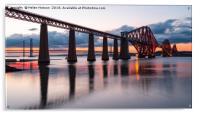 Sunset over the Forth Bridge, Acrylic Print