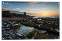 Keiss Castle at Caithness in Scotland, Acrylic Print