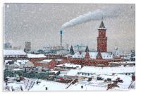 Helsingborg Cityscape in Winter Weather, Acrylic Print