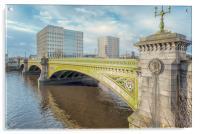 Glasgow Albert Bridge, Acrylic Print