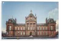 Govan Town Hall Facade, Acrylic Print