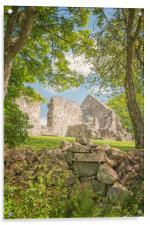 Rya Church Ruin, Acrylic Print