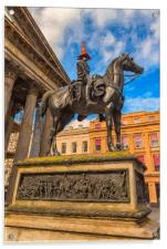 Duke of Wellington Statue Digital Painting, Acrylic Print