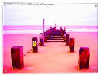 Out to Sea- Magenta, Acrylic Print