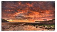 Manobier Sunset, Acrylic Print