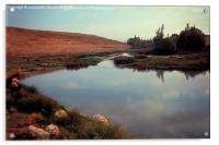 Tranquil Mountain Pool, Acrylic Print