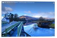 The Caledonian Canal, Corpach, Scotland., Acrylic Print