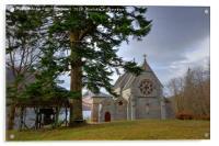 Catholic Church of St Mary & St Finnan, Glenfinnan, Acrylic Print