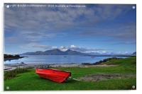 Isle of Rum, Small Isles, Scotland, Acrylic Print