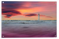 Winters sunset, Acrylic Print