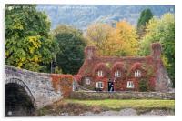 Tu Hwnt I'r Bont in Autumn, Acrylic Print